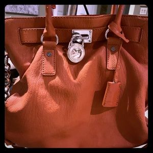 Michael Kors lock and key leather bag